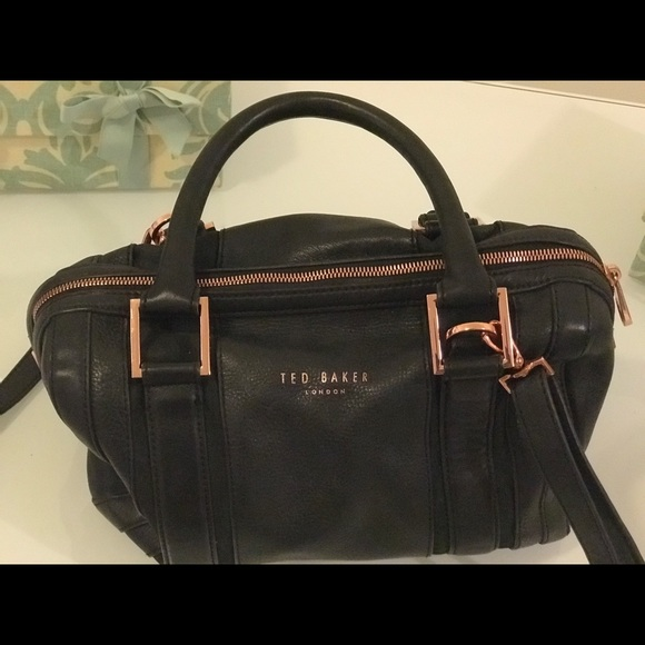 7236354095 Black with rose gold Ted Baker leather purse. M_5bf35c74534ef97fb6bb2e42